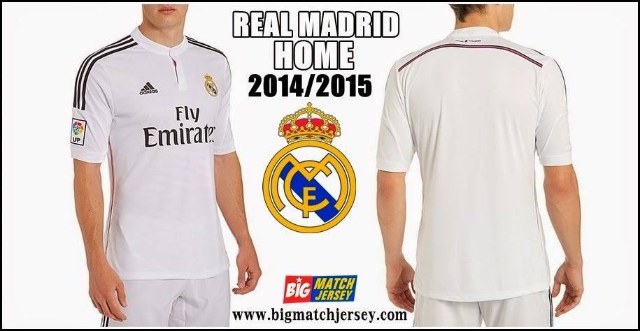 Jersey Club Terbaru Real Madrid Home Official 2014-2015