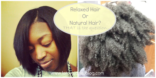 relaxed hair natural