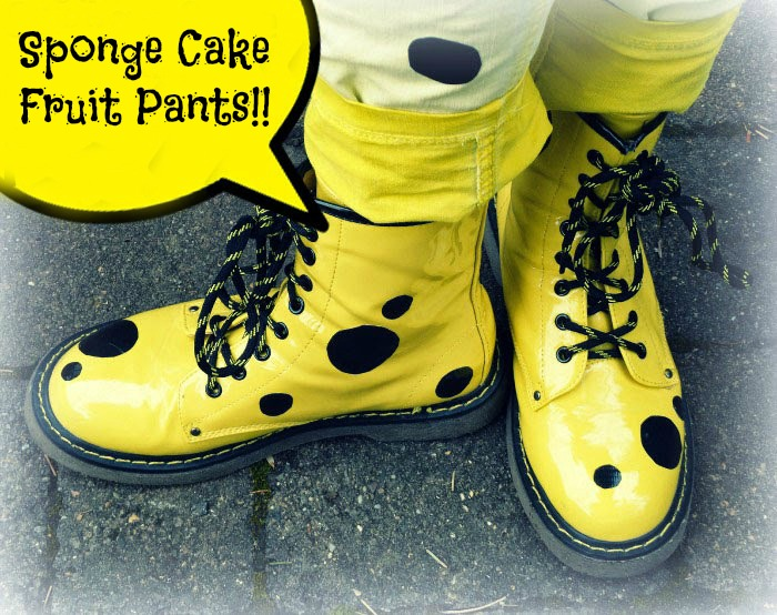 Sponge Cake Fruit Pants