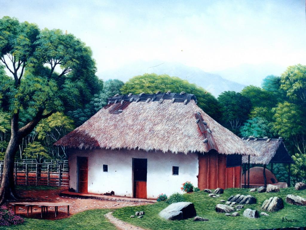 Im genes arte pinturas cuadros paisajes cl sicos colombianos - Cuadros clasicos modernos ...