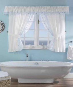 Shower Curtains On Windows | Interior Decorating
