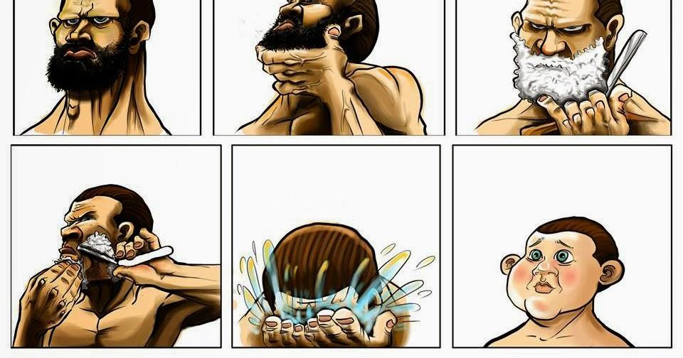 un hombre sin barba parece mas joven un hombre si barba luce más jóven ciudad facebook fotos para