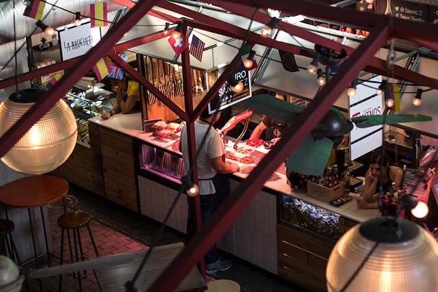Fleisch auf dem Mercado de San Ildefonso