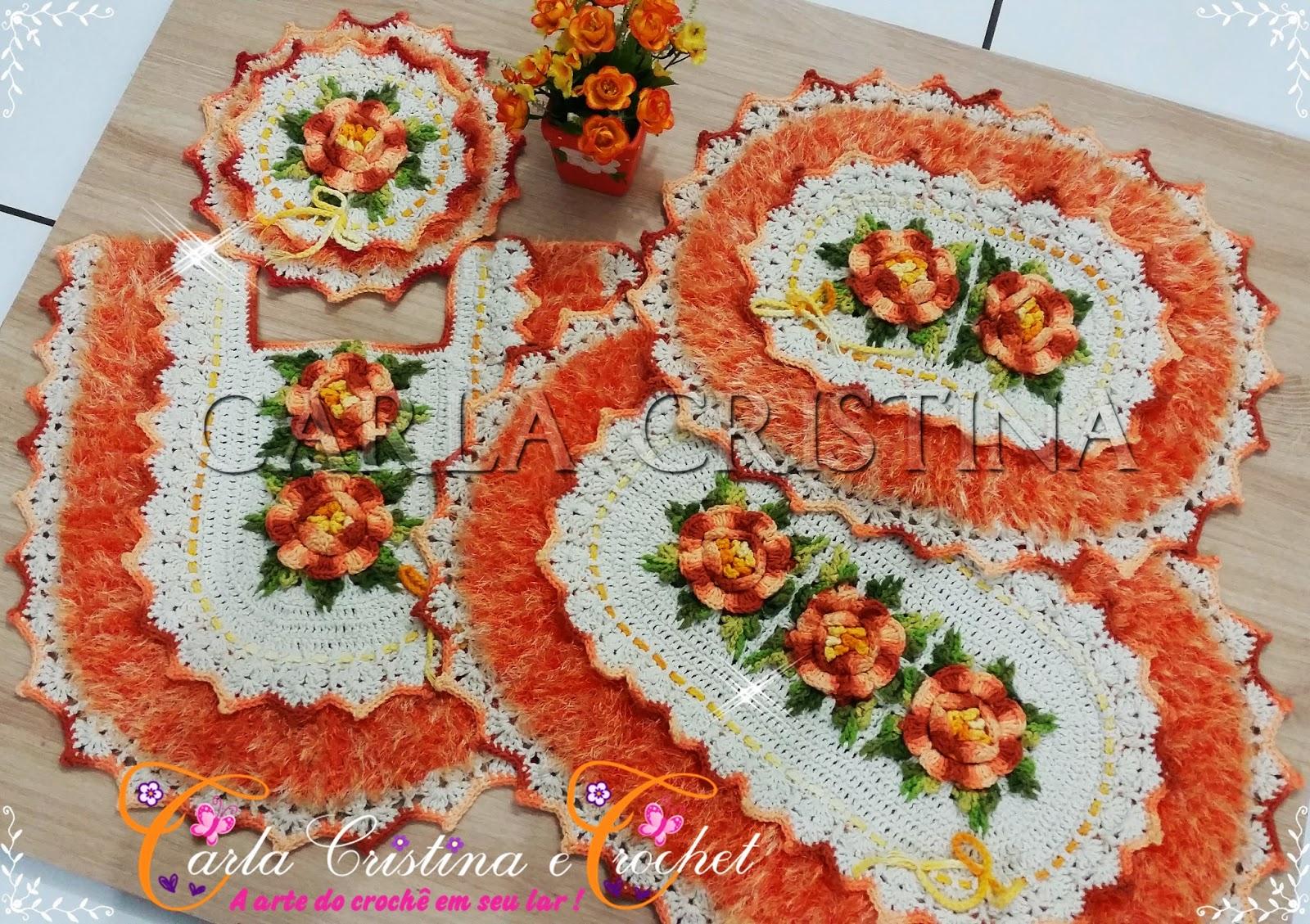 Jogo De Banheiro Primavera Laranja Passo A Passo : Carla cristina crochet