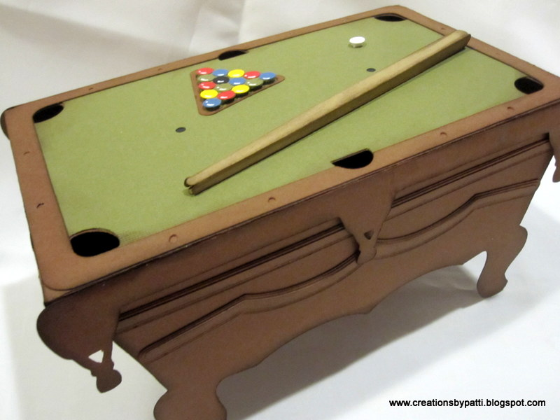 Creations By Patti Pool Table Decor - 3 1 2 x 7 pool table