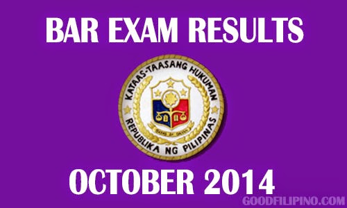 Philippine Bar Exam Results 2014 - List of Passers (March 2015)