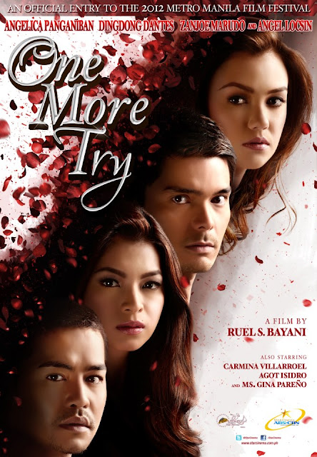 One More Try Official Movie Poster - starring Angel Locsin, Dingdong Dantes, Zanjoe Marudo and Angelica Panganiban