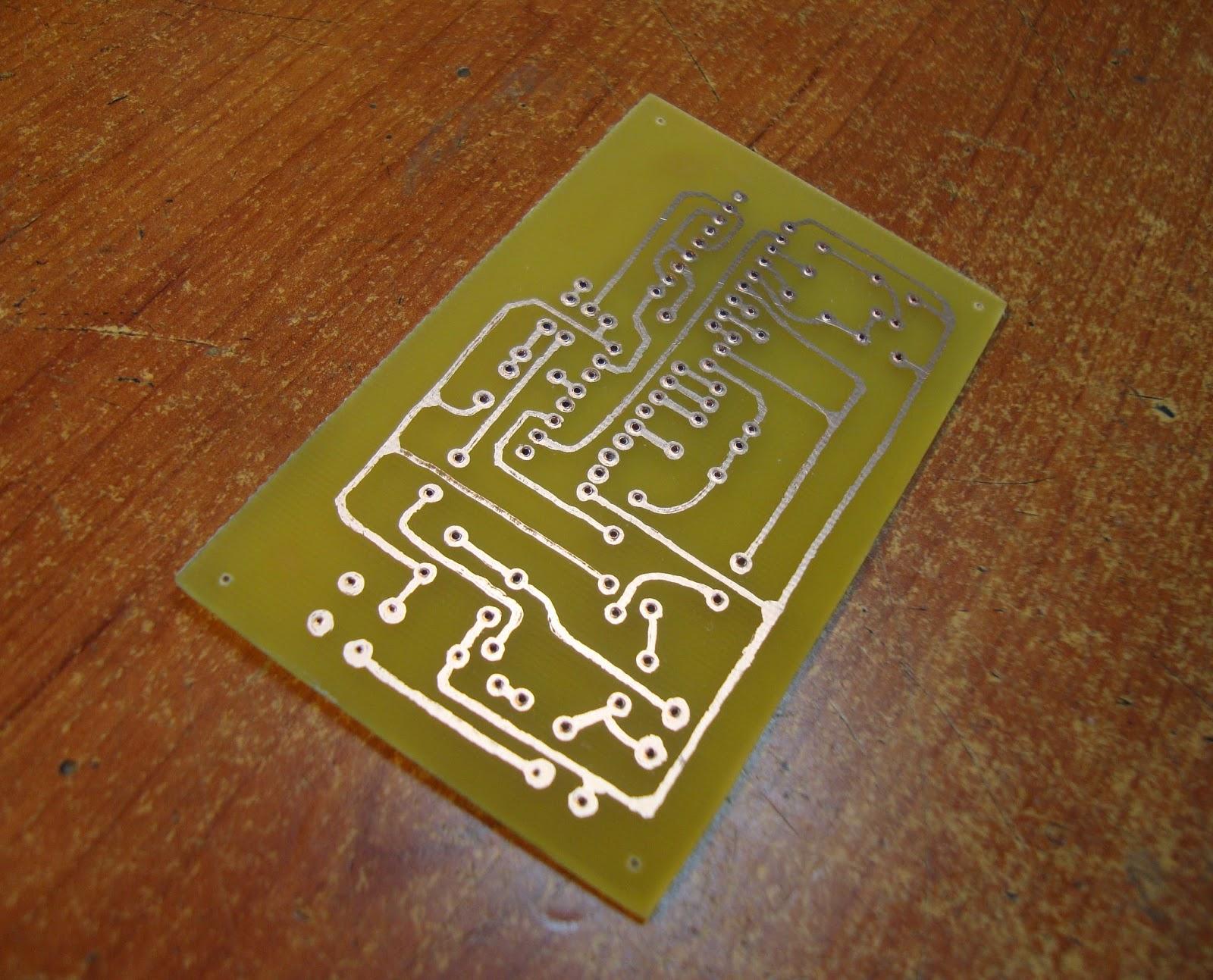 Circuito Impreso De Amplificador De 3000w : Electrónica básica cap cómo hacer circuitos impresos