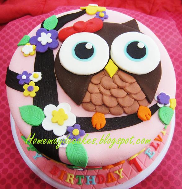 Home Mayde Cakes The Making Owl Cake