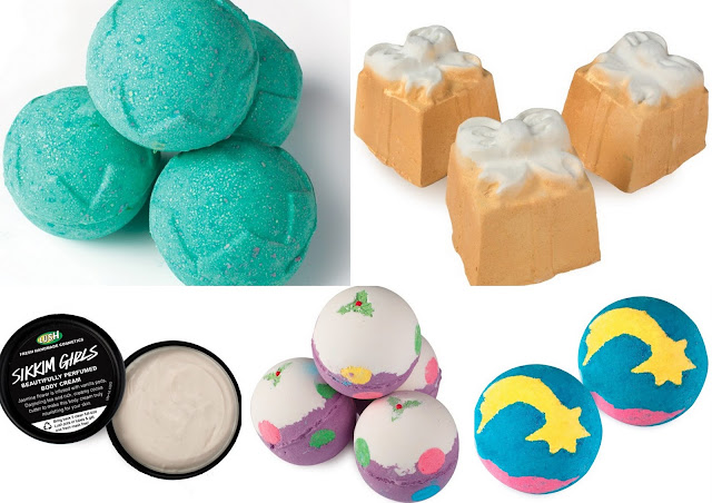 Christmas Lush products