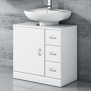 Armario bajo lavabo pie ideas de disenos for Mueble lavabo pedestal ikea