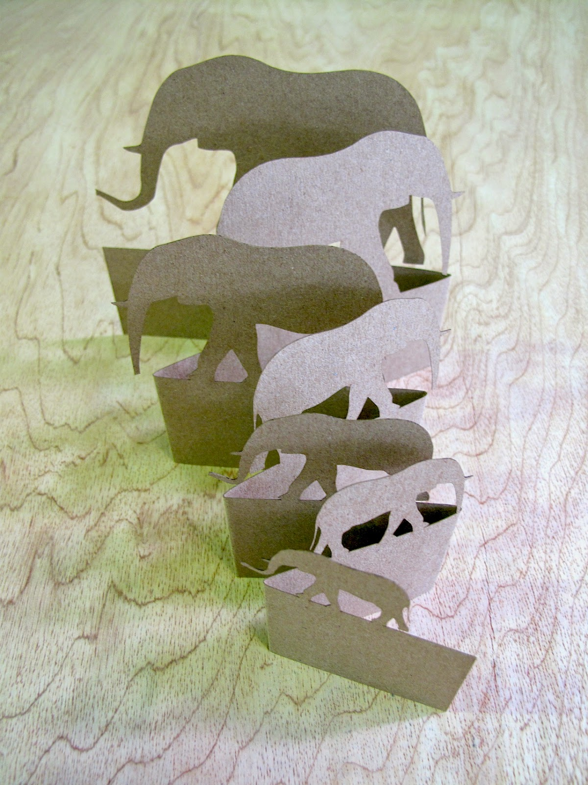 Elephant Popup Card  - Made by Keri Muller  (simpleintrigue.com)