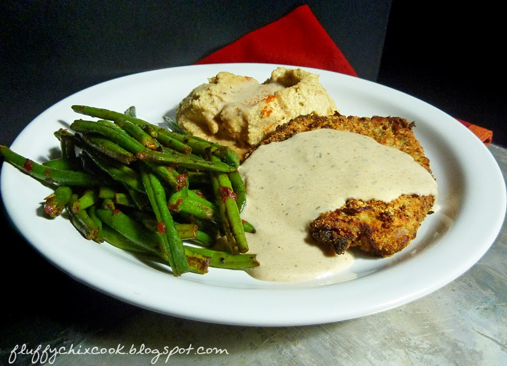 fluffy s oven chicken fried steak or roasted smashed fauxtatoes