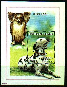1998年マリ共和国 ダルメシアンの切手シート