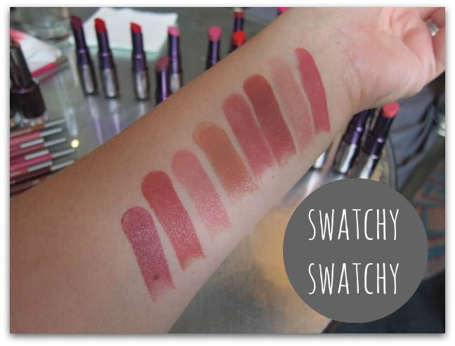 Urban Decay Revolution Lipstick Nudes and Pinks Swatched