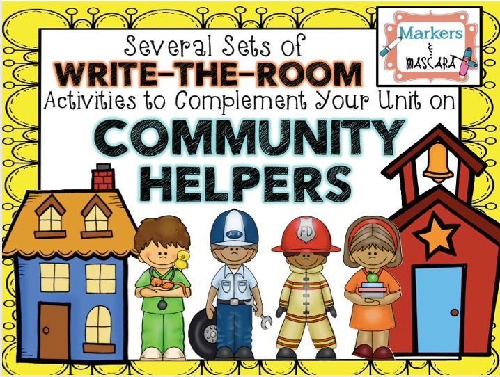 http://www.teacherspayteachers.com/Product/Community-Helpers-Write-the-Room-Pack-1414933
