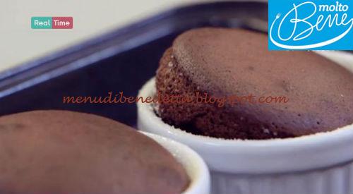 Soufflè al cioccolato ricetta Parodi per Molto Bene