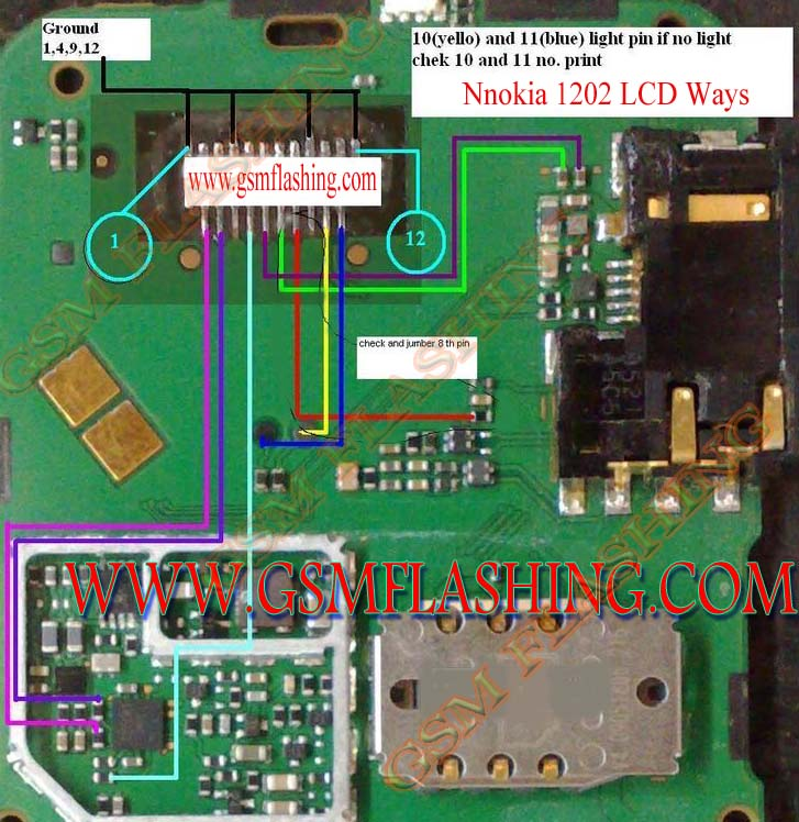 Nokia 1202  1661  5030 Lcd Jumper Solution And Lcd Ways
