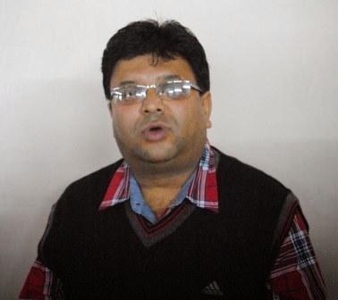 Roshan Giri, the executive sabha member in charge of education department