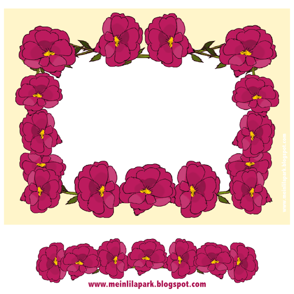 picture about Free Printable Flower Borders named Absolutely free printable stationery with flower border - ausdruckbares