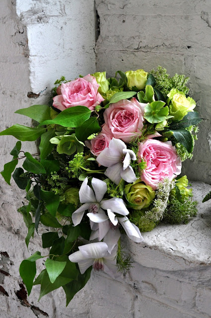 Courtenay Lambert Florals, Garden Rose, Clematis, Queen Anne's Lace, Jade Rose, Cincinnati, wedding, florist, event, design, Chapel Designers, New York city, Francoise Weeks