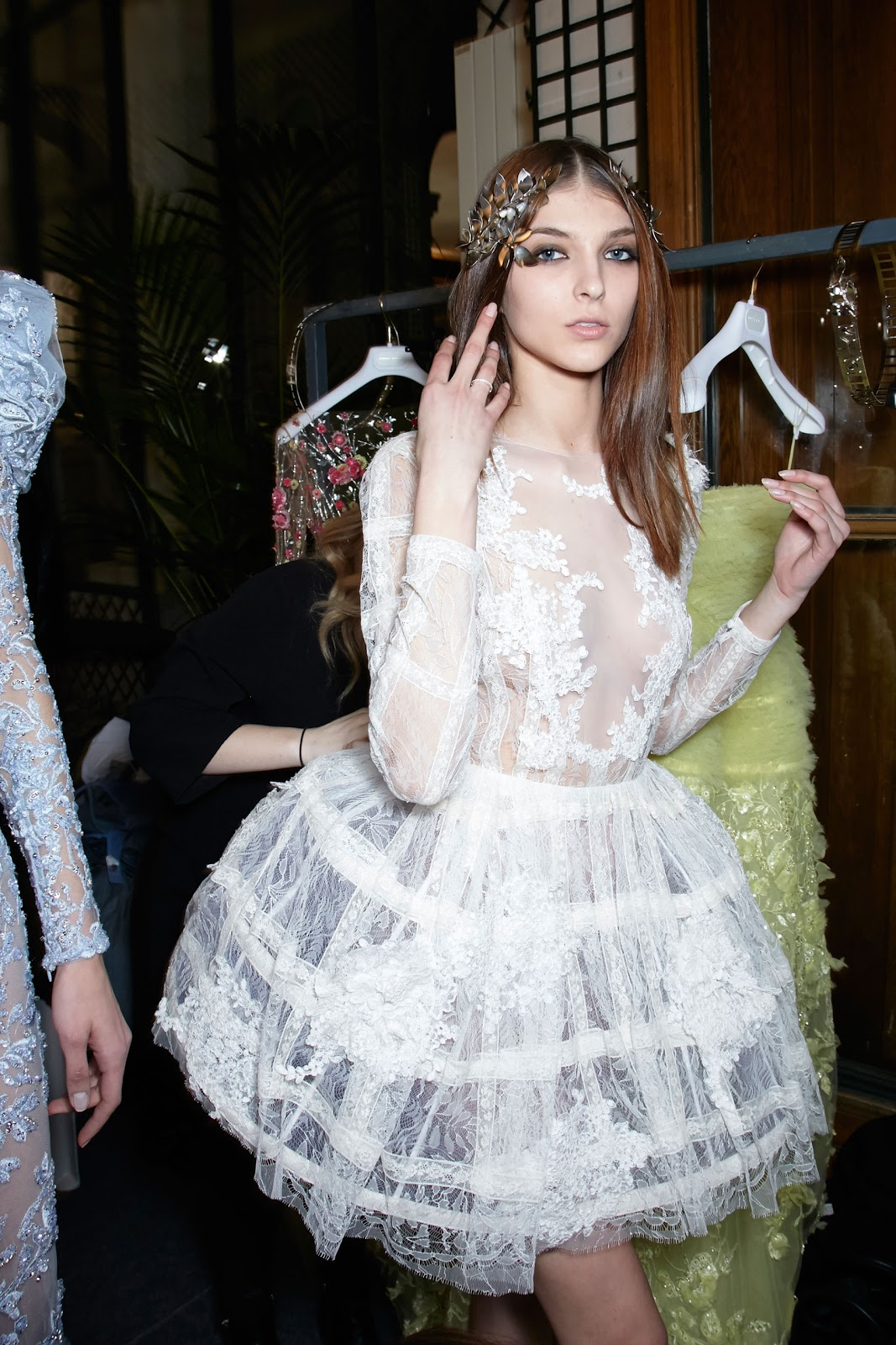 Fashion Runway Zuhair Murad Couture Spring 2016 Backstage Paris Cool Chic Style Fashion
