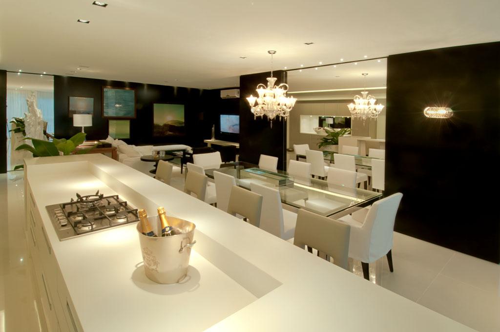 Sala De Jantar Branca De Luxo ~ artetecta  Projeto de Ivan Wodzinsky para o Brava Beach Internacional