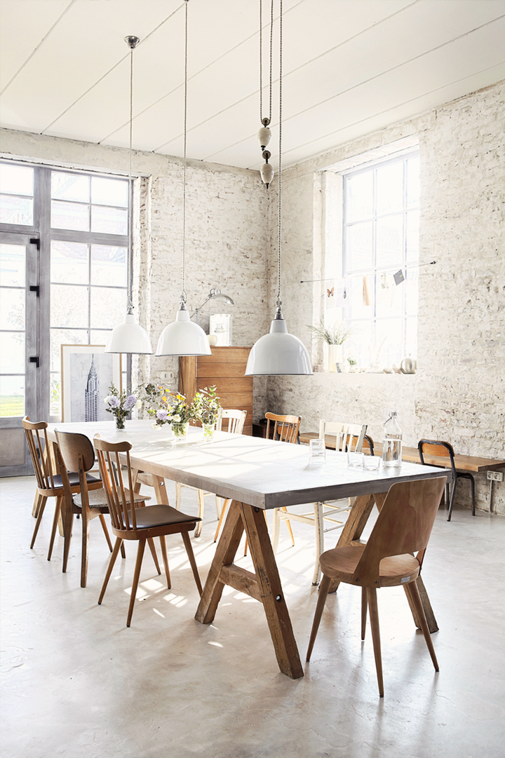 The perfect dining area with industrial touch 79 ideas for Pictures for dining room area