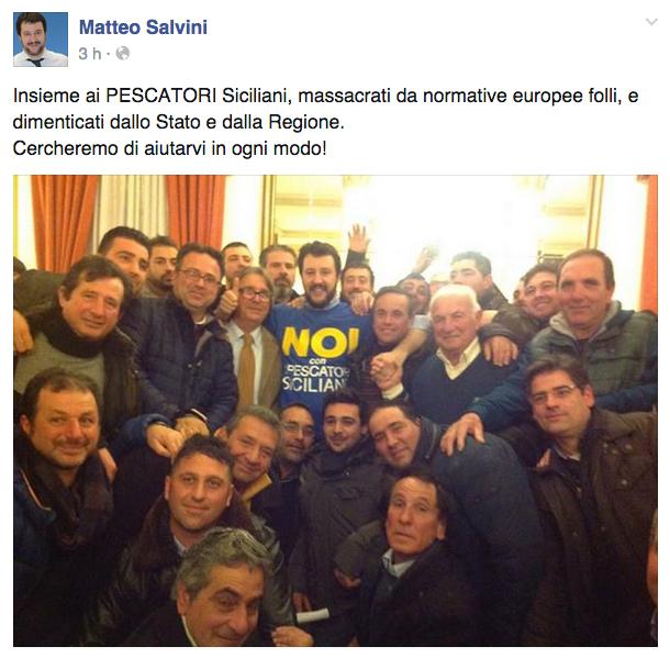 Sui porticellesi che si fanno fotografare con Salvini