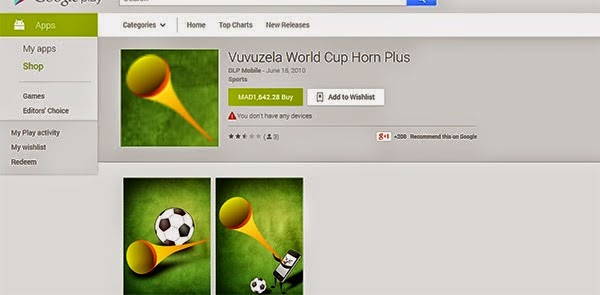 Vuvuzela World Cup Horn Plus