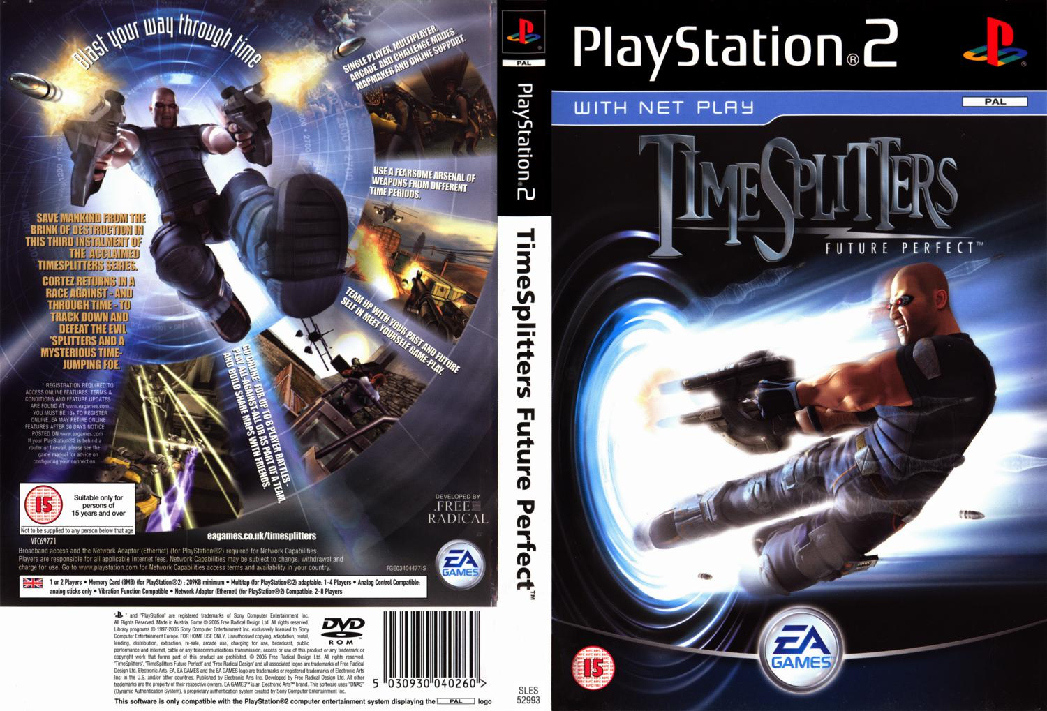 Capa Time Splitters Future Perfect PS2
