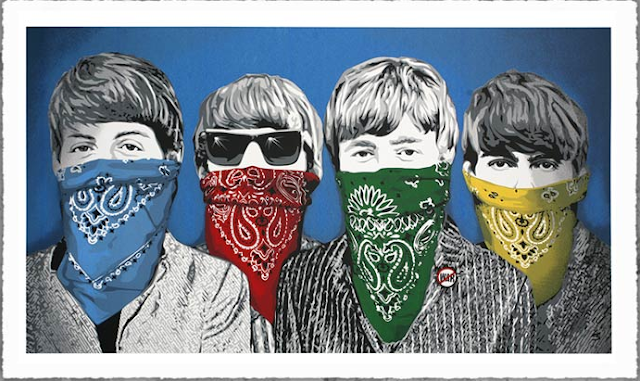Mrbrainwash beatles bandidos new print available august for Mural mr brainwash