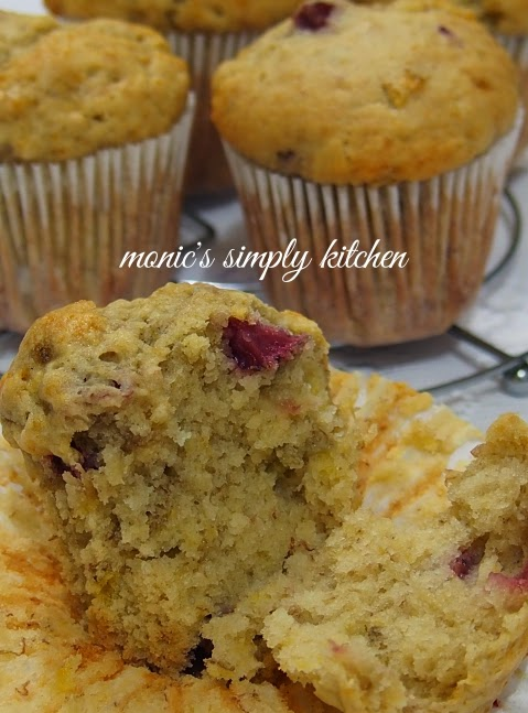 resep muffin pisang stroberi