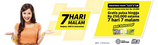 Iklan Program Promo Indosat 7 Hari 7 Malam