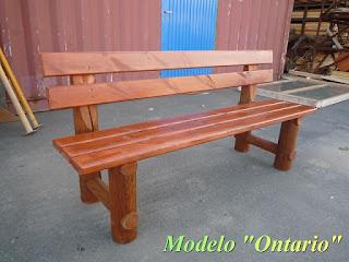 Actividades escolares bancos rusticos de madera muy for Banco de jardin de madera