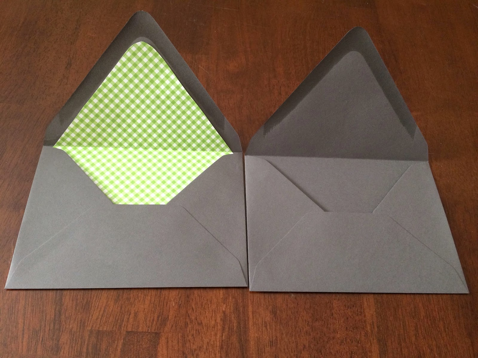 Doeblerghini Bunch:  Envelope Liner - Before and After
