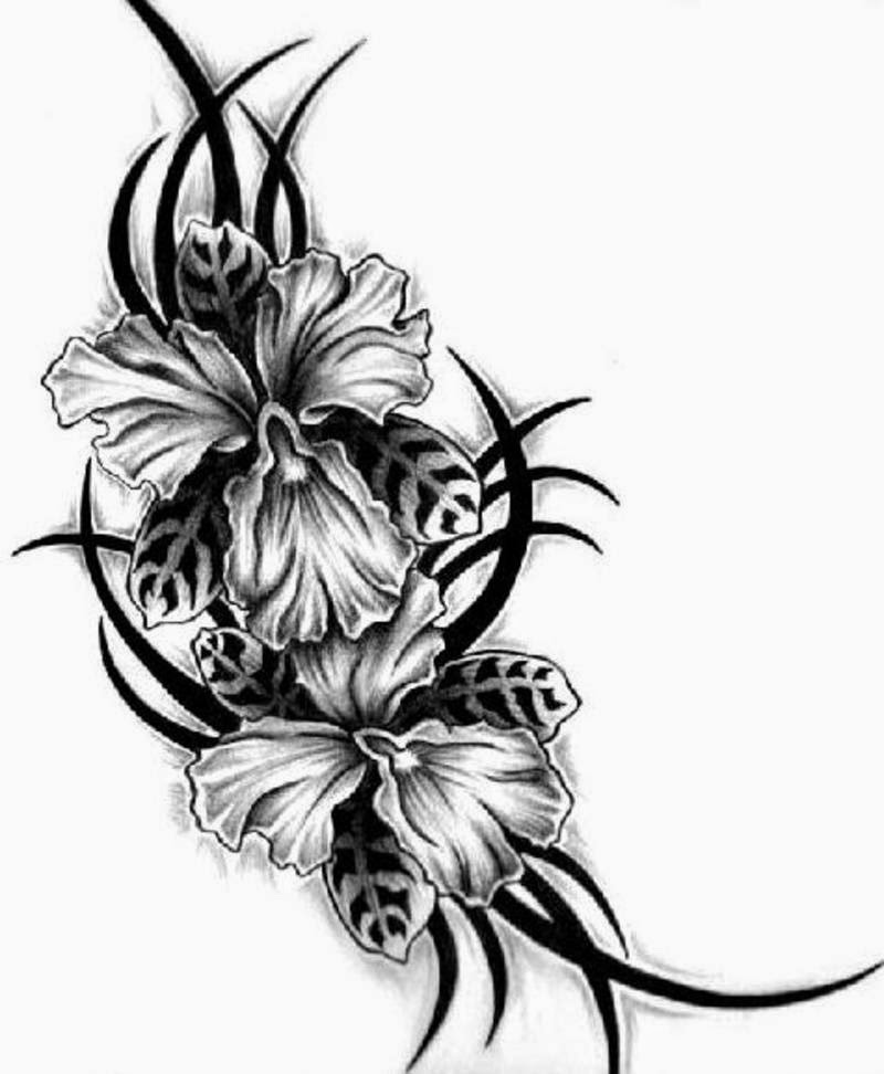 Tattoos Designs Flowers Stars Flower Tattoo Designs