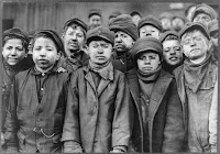 Kids working in the coal mines before child safety work laws black smout on faces