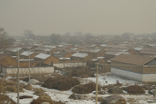 Rural village in Hebei province in China