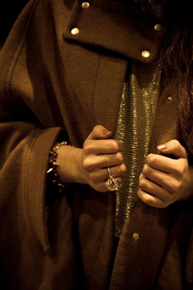 cape sweater detail christmas gold ring bracelet asos