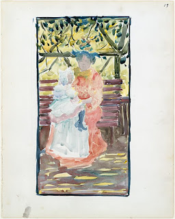 watercolor paintings by Maurice Prendergast http://schulmanart.blogspot.com/2015/07/watercolor-sketchbook-watercolors-of.html #MauricePrendergast @metmuseum