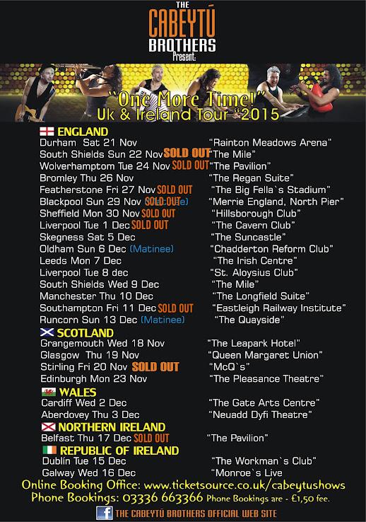Uk & Ireland Tour 2015