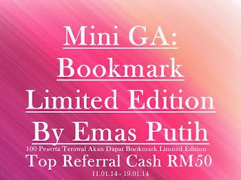 Mini GA Bookmark Limited Edition By Emas Putih
