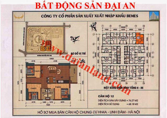 Căn hộ số 12 - Chung Cư HH4A Linh Đàm