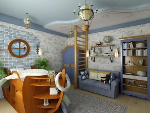 Dormitorios infantiles estilo n utico dormitorios con estilo for Dormitorio ninos diseno