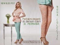 Pantalonii eleganti de dama in nuante vesele