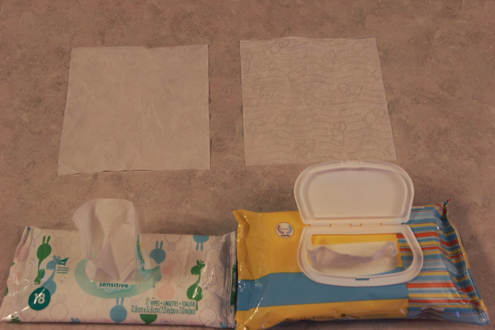 Aldi Lullabies Wipes Comparison