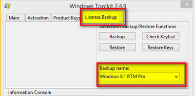 Automatic Backup Restore Activation On Windows 8.1 RTM STEP 2