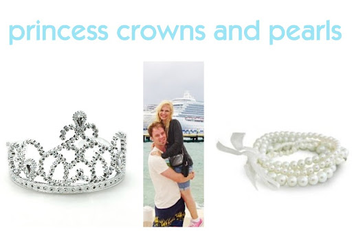 princess crowns and pearls