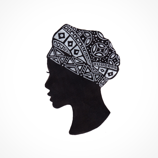 The Exotic of Turban Woman Illustration Printed on Merchandise Illustration by Haidi Shabrina